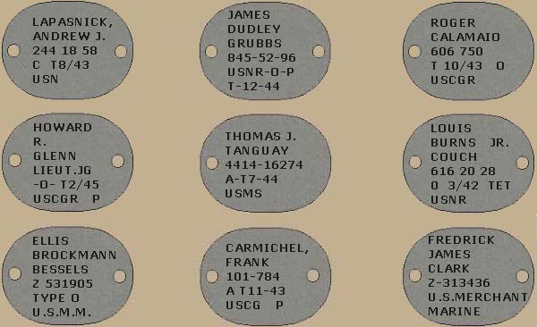 Sample Dog Tags